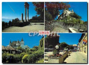 Modern Postcard Nyon on Lake Geneva Switzerland VDI