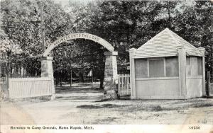 A56/ Eaton Rapids Michigan Mi Postcard c1910 Entrance to Camp Grounds