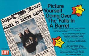 Nuns in a barrel , Niagara Falls , Ontario , Canada , 50-60s