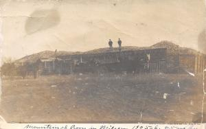 Illinois Real Photo Postcard~Men in Suits on Corn Mountain~Huge Crib~Horses~1905