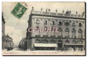Old Postcard Nancy Place Stanislas Grand Hotel