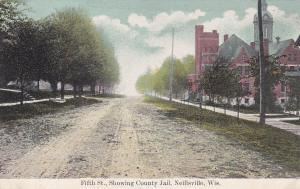 NEILLSVILLE, Wisconsin, 1900-1910s; Fifth St., Showing County Jail