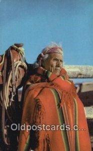 Navajo Patriarch Indian Postcard, Post Card Unused