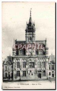 Postcard Old Compiegne Hotel de Ville
