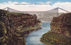 Idaho Hansen Suspension Bridge