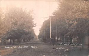 Madison Street Bronson MI 1909