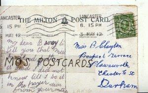 Genealogy Postcard - Clayton - Plawsworth - Chester le St - Durham - Ref 9049A