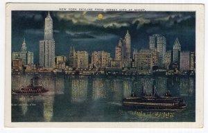 New York City Skyline From Jersey City At Night