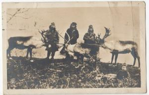 Finland; Lapp Natives With Reindeer RP PPC, 1924 PMK, To A Phillips, Brighton