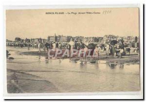 Berck Beach Old Postcard The beach in front of & # 39Eden Casino