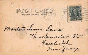 Santa Cruz Casino, Santa Cruz, California, Early Postcard, Used in 1907