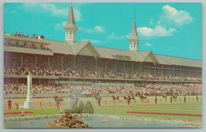 Louisville Kentucky~Churchill Downs on Derby Day~Vintage Postcard