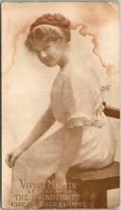 1910 CHICAGO OPERA HOUSE Advertising Postcard Vivian Martin in THE SPENDTHRIFT