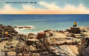 Maine York Rocks At Bald Head Cliffs