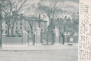 Van Wilkie Gates , Brown University , PROVIDENCE , Rhode Island ; PU-1909