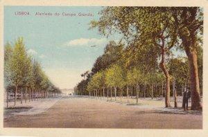 Lisboa Alameda Do Campo Grande Portugal Old Postcard