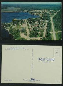 Longlac Ontario Highway 11 aerial view c 1960