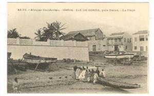Afrique Occidentale, La Plage, Boats, Ile De Goree, Pres Dakar, Senegal, 1900...