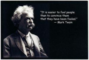 Mark Twain Easier to Fool People Quote Modern Postcard