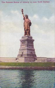 Famous Statue Of Liberty In New York Harbor