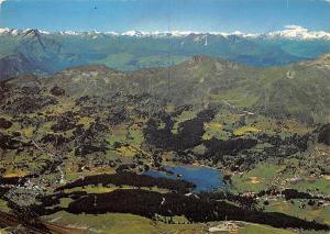 Switzerland Berg Mountains Lake Panorama, Lenzerheide Valbella vom Rothorn