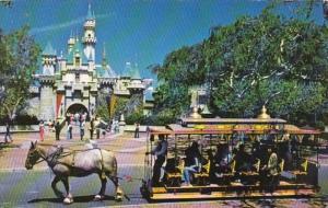 Disneyland Horse Drawn Street Car At Sleeping Beauty Castle 1980