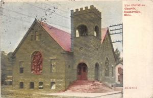 E93/ Salineville Columbiana Co Ohio Postcard 1909 Christian Church 3