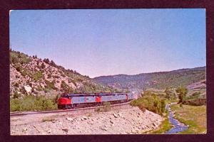 CO Amtrak Railroad Train GALLINAS COLORADO Postcard Super chief