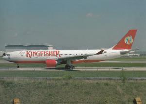 KINGFISHER, A330-223, unused Postcard