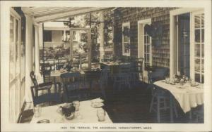 Yarmouthport Cape Cod MA The Anchorage Terrace Real Photo Postcard