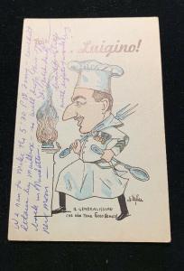 New York City Luigino Pizzeria Pizza Restaurant West 48th Adv Postcard