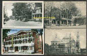dc180 - LOUISEVILLE Quebec 1920s-40s LOT of (4) Postcards