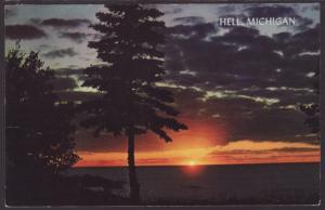 Sunset Hell,MI Postcard BIN