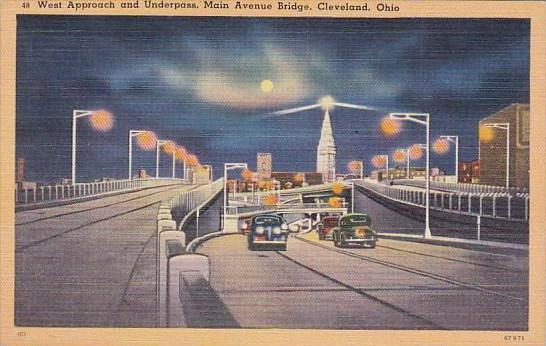 West Approach And Under Pass Mian Avenue Bridge Cleveland