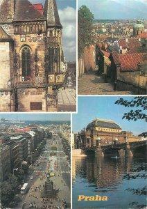 Czech Republic Prague souvenir multiview Postcard