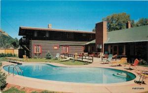 Aspen Colorado 1950s Prospector Lodge Pool Berko Studio Dexter postcard 7545