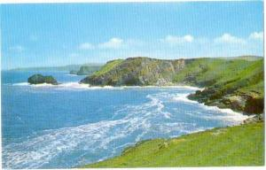 The Coast Line from Island Tintagel, Cornwall, England, UK   Chrome