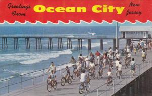 Bicycling on the Boardwalk, Greetings from Ocean City, New Jersey, 40-60s