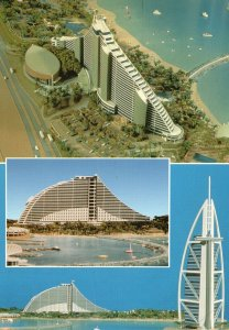 Vintage Postcard 2000 Jumeirah Beach Hotel & Burj Al Arab United Arab Emirates