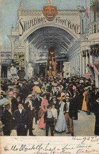 Steeplechase Funny Place, Coney Island, Brooklyn, N.Y., Postcard, Used in 1910