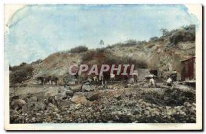 Postcard Old Mine Miners Mines