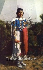 Indian Maiden, Pawnee Indian Postcard, Post Card Unused