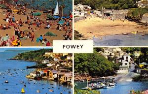 Vintage Postcard CORNWALL Fowey 4 split Multiview by NPO