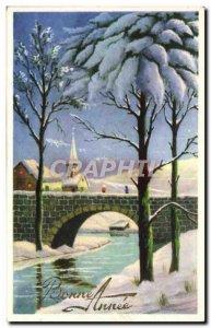 Old Postcard Fancy Happy new year