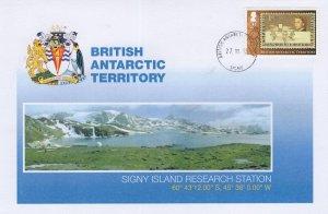 British Antarctic Territory Signy Island Research Station Rare FDC