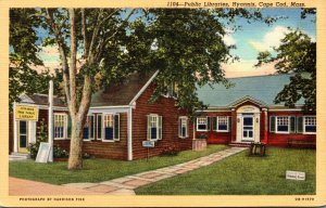 Massachusetts Cape Cod Hyannis Public Libraries Curteich