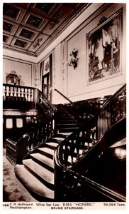 R.M.S. Homeric , Grand Staircase  , White Star Line