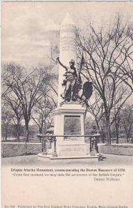 Massachusetts Boston Crispus Attucks Monument Commemorating The Boston Massac...