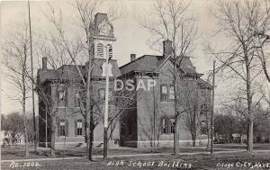 Kansas Ks Real Photo RPPC Postcard 1909 OSAGE CITY High School Building
