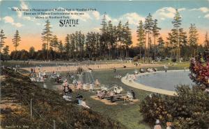 Seattle Washington~Woodland Park~Children @ Playground~Tennis Court~Pool~c1910
